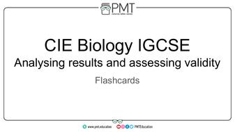 Edexcel IGCSE Biology Practical Flashcards