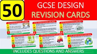 50 x GCSE Design Technology Exam Revision Cards