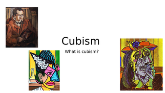 Cubism and Roll a Picasso lesson
