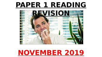 EDUQAS GCSE English Language Paper 1 Nov 2019 exam Q3 IMPRESSIONS PowerPoint