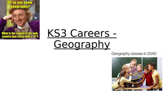 KS3 Geography Careers Lesson