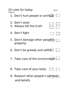 10-rules-for-today-Agree----Disagree.docx