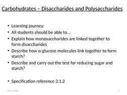 AS AQA Biology Carbohydrates_disacharides and polysacharides