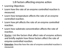 AQA AS Biology_Factors affecting enzyme action