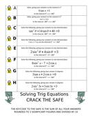 Solving Trig Equations (Crack the safe)