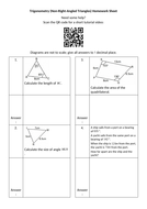 Trigonometry-(Non-Right-Angled-Triangles)-Homework-Sheet---Questions.docx