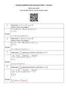 Partially-Simplified-Surds-Homework-Sheet-2---Answers.docx