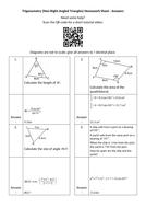 Trigonometry-(Non-Right-Angled-Triangles)-Homework-Sheet---Answers.docx