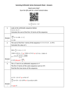 Summing-Arithmetic-Series-Homework-Sheet---Answers.docx