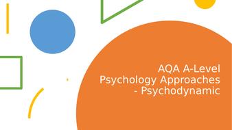 AQA A-level Psychology Psychodynamic Approach Lesson ...
