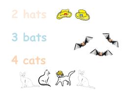 Phonics  - hats, bats, cats