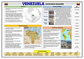 Venezuela Knowledge Organiser - KS2 Geography Place Knowledge!