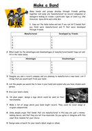 2 Music Cover Lesson Worksheets for a non specialist.