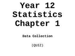Year 12 STATISTICS chapter 1 SAMPLING matching cards