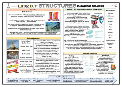 DT: Structures - Lower KS2 Knowledge Organiser!