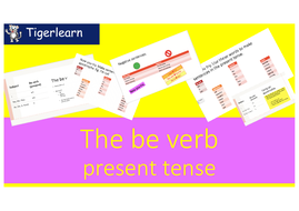 Be verb in present tense introduction ppt
