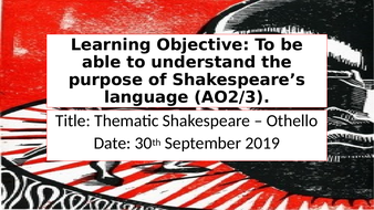 Thematic Shakespeare Unit