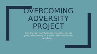 Year 9 Media Studies Overcoming Adversity Project