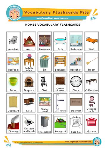 Homes Vocabulary Flashcards