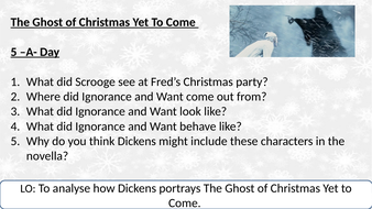 The Ghost of Christmas Yet to Come - Analysis Lesson | Teaching Resources