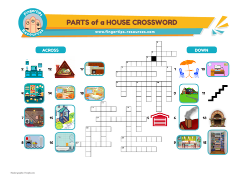 Parts & Rooms of a House Crossword