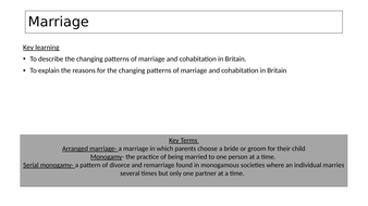 Sociology Of The Family Marriage Teaching Resources