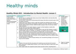 PSHE - Mental Health - 8 Lessons for KS3   Teaching Resources