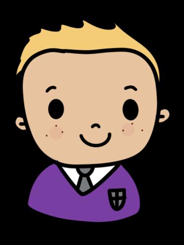 Diverse Pupil Clip Art - Purple Uniform | Teaching Resources