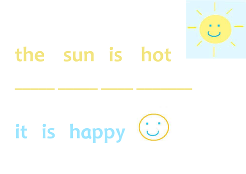 Sunshine Phonics Sheet