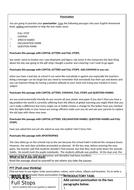 Free Punctuation Worksheet