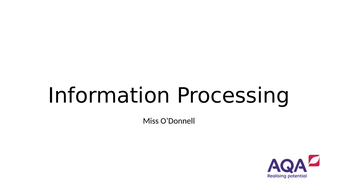 AQA A Level PE Chapter 2.1 Information Processing