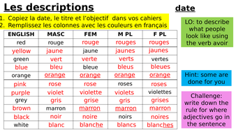 Year-9-French-Week-1-Lesson-2-Module-1-Descriptions.pptx
