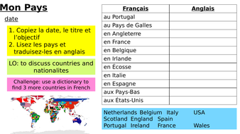 Year-7-French-Access-Studio-Lesson-10-Countries.pptx