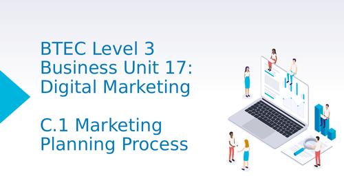 BTEC Level 3 Business Unit 17: Digital Marketing C1 Marketing Planning Process