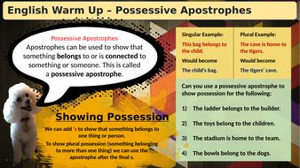 (Slideshow)-Warmup-Possesive-Apostrophes.pptx