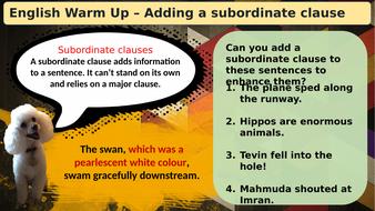 (Slideshow)-Warmup-Subordinate-Clauses.pptx