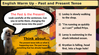 (Slideshow)-Warmup-Past-and-Present-Tense.pptx