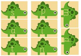dinosaur themed phonic cards