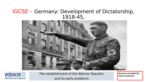 GCSE History: 4. Germany - The Ruhr and Hyperinflation 1922-23