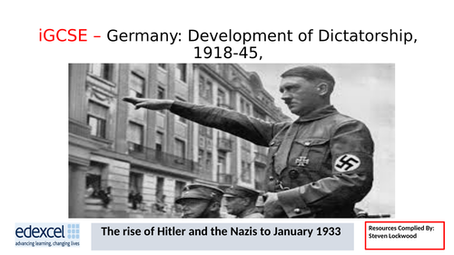 GCSE History: 9. Germany - The Rise of Hitler and the Nazis 1920-22