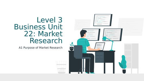 BTEC Level 3 Business Unit 22: Market Research A1 Purpose of Market Research