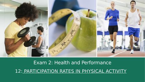 GCSE PE Edexcel 12: Participation rates in physical activity