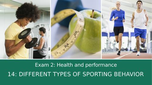 GCSE PE Edexcel 14: Different types of sporting behaviour