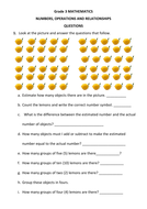 Grade 3 MATHEMATICS (NUMBERS, OPERATIONS AND RELATIONSHIPS) QUESTIONS & ANSWERS 40 PAGES, FIRST ...