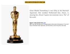 Oscar's Stolen Oscar! (escape room for remote teachers!)
