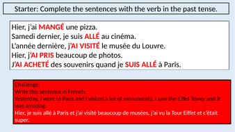 Past Tense in Paris