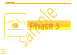 Lern Fonix Phase 3 scheme of work
