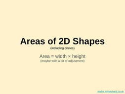 Area-p0-Areas-of-2D-shapes---including-Circles.pptx