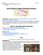 Byzantine Empire Lesson Plan - Worksheet, guided reading and videos