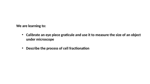 A level Biology: Eye piece graticule calibration and measurements through a microscope